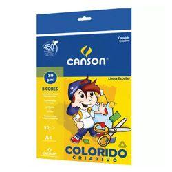 Bloco Criativo 8 Cores A4 80g.32fls - Fila Canson