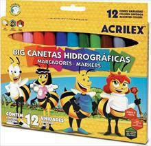 Caneta hidrográfica Big 12 Cores - Acrilex