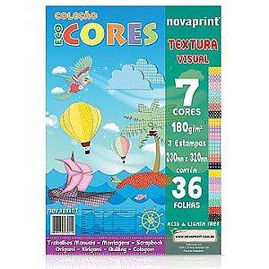 Bloco para Educação Artística Textura-1 180g. 36f 230x320 - Novaprint