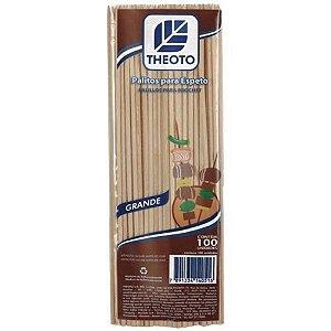 Palito (Espeto) de madeira 25cmx3,5mm C/100 - Theoto S/A