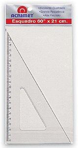 Esquadro Poliestireno 60 Graus 21cm - Acrimet