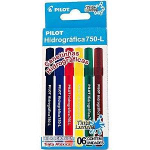 Caneta hidrografica 750l 6 Cores - Pilot