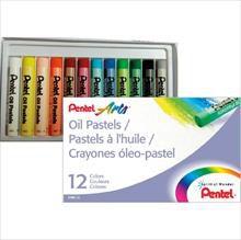 Giz pastel Oleoso 12cores - Pentel