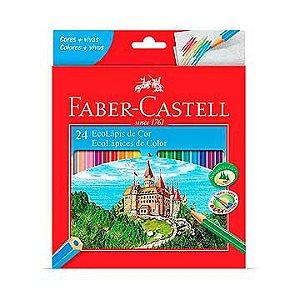 Lápis de cor (sextavado) Ecolapis 24 Cores - Faber-Castell