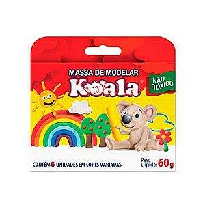 Massa para modelar Koala C/ 06 Cores  60grs - Delta