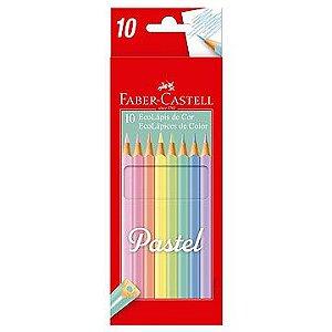 Lápis de cor (triangular) Ecolapis Tons Pasteis 10 Cores - Faber-Castell