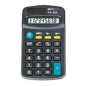 Calculadora de bolso 08digitos Pilha Aaa/Solar Preta - Hoopson