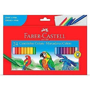 Caneta hidrografica Prestocolor Regular 24cores - Faber-Castell