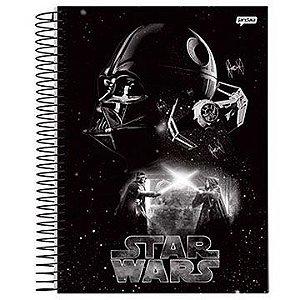 Caderno 12 matérias Star Wars C2 espiral univ. CD 240Fls - Jandaia