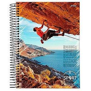 Caderno 12 matérias espiral univ. CD Sport C3 240 Folhas - Jandaia