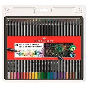 Lapis de cor (redondo) Ecolapis Supersoft 24 cores - Faber-Castell
