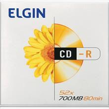 CD gravável CD-R 700mb/80min/52x Envelope - Elgin