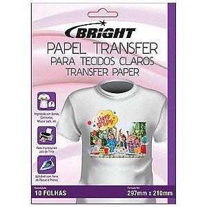 Papel transfer A-4 Tecidos Claros - Bright