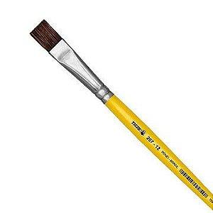 Pincel escolar Chato 267 N.12 Amarelo - Pinceis Tigre