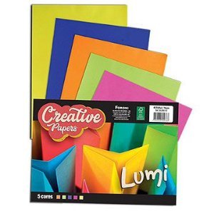 Bloco para educação artística Creative Papers Lumi 75g. 40f. - Foroni