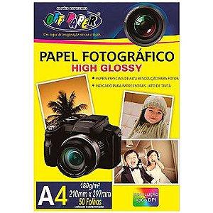 Papel fotográfico inkjet A4 High Glossy 180g - Off Paper