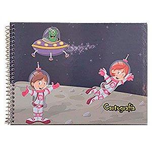 Caderno de Cartografia / Desenho Capa Dura Grade Espiral 48Fls C1 - Tamoio