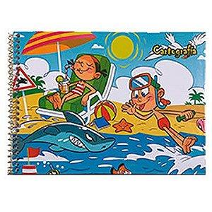 Caderno de Cartografia / Desenho Capa Dura Grade Espiral 48Fls C2 - Tamoio