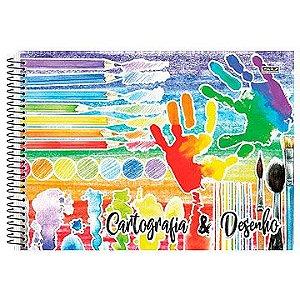 Caderno de Cartografia / Desenho Capa Dura Grade Espiral 60Fls C2 - São Domingos
