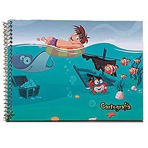Caderno de Cartografia / Desenho Capa Dura Grade Espiral 48Fls C5 - Tamoio
