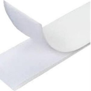 Velcro Fecho 25mm x 1m Macho e Fêmea Branco