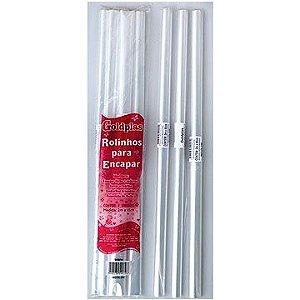 Plastico para encapar (rolo com 2 m) 45cm largura Incolor - Goldplas
