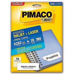 Etiqueta Carta 6282 25 Fls 33,9 X 101,6 Mm - Pimaco