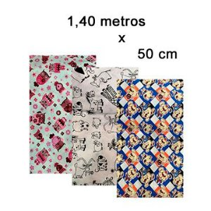 Tecido estampado algodão 1,40m x 50cm