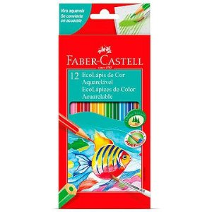 Lapis de cor aquarelável Ecolapis 12 Cores - Faber-Castell