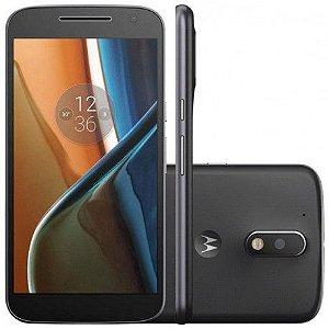 "Smartphone Motorola G4 Plus XT1642 16GB LTE Dual Sim Tela 5.5"" Câm.16MP/5MP-Preto"