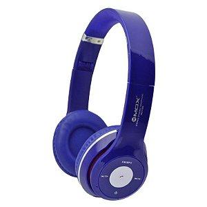 Fone de Ouvido MO-F899  Bluetooth, Fm, Sd, USB, MP3 - Azul
