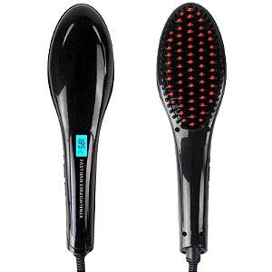 Escova Alisadora  Elétrica fast hair Preto (110/220Volt)