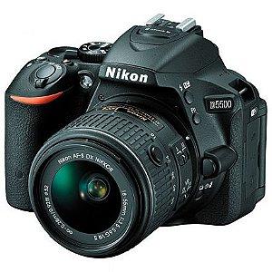 Câmera Nikon d5500 kit af-p 18-55 vr - preto