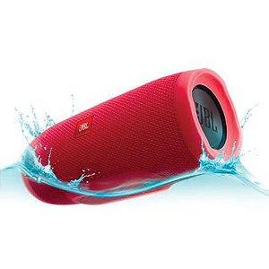 Caixa de som Speaker JBL Charge 3 Portátil Bluetooth À Prova D'água Vermelho