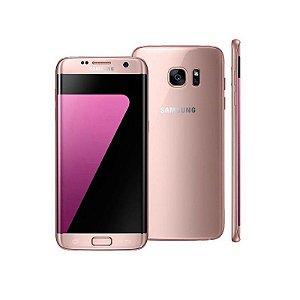 "Smartphone Samsung Galaxy S7 Edge 32GB LTE 1 Sim Tela 5.5"" QHD Câm.12MP+5MP- Rosé"
