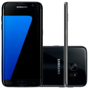 "Smartphone Samsung Galaxy S7 Edge 32GB LTE 1 Sim Tela 5.5"" QHD Câm.12MP+5MP- Preto"