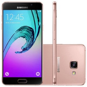 "Smartphone Samsung Galaxy A7 SM-A7100 16GB LTE Dual Sim Tela 5.5""FHD Câm.13MP+5MP-Rose"