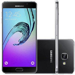 "Samsung Galaxy A7 SM-A7100 16GB LTE Dual Sim Tela 5.5""FHD Câm.13MP+5MP - Preto"