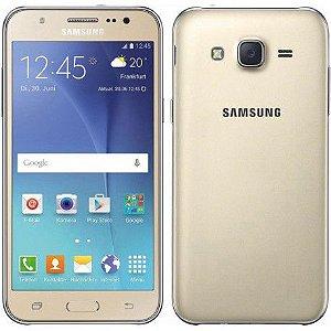 "Smartphone Samsung Galaxy J7 SM-J700M 16GB LTE 1 Sim Tela 5.5"" Câm.13MP+5MP- Prata"