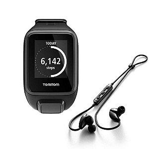 Relógio Esportivo TOMTOM Spark Music + Fone Bluetooth Preto (Large)