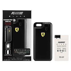 Perfume Ferrari Scuderia Black EDT 25ML mais Capa Iphone