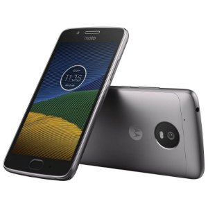 "Smartphone Motorola Moto G5 XT1671 32GB LTE Dual Sim Tela 5.0"" Câm.13MP+5MP - Cinza"