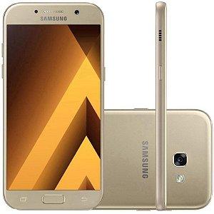"Smartphone Samsung Galaxy A7 SM-A720F 32GB LTE 1Sim Tela 5.7""FHD Câm.16MP+16MP- Dourado"