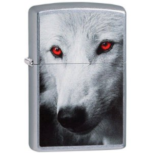 Isqueiro Zippo Wolf With Red Eyes 28877
