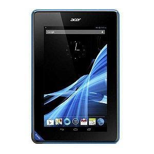 """Tablet Acer Iconia B1-A71 Wi Fi 8GB Tela de 7.0"""" 0.3MP OS 4.1.2 - Preto/Azul"""