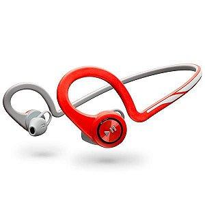 Fone Sem Fio Plantronics BackBeat Fit com Bluetooth v.3.0 - Vermelho/Cinza