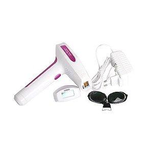 Depilador a Laser Lescolton G910E Homelight Bivolt - Branco/Rosa