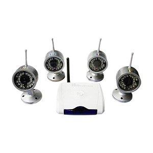 Kit Câmera de Segurança Com 4 Cm001 W802g4 Sem fio