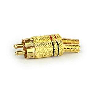 Conector Dourado AV/Coaxial YO20-015 PW006