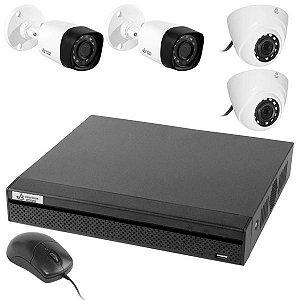 Kit CFTV V.Bras VB-HDCVI4700KIT DVR 8 CH + 2 Câmeras Dome/2 Bullet (1MP/3.6mm)